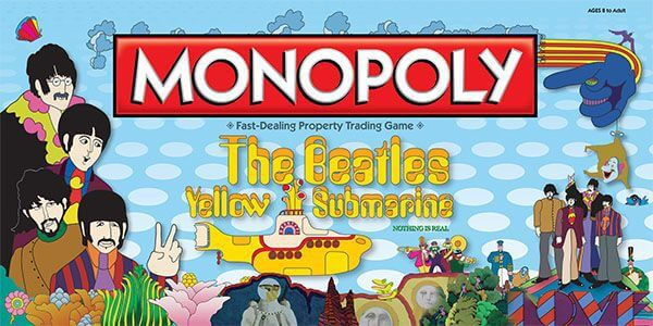 Audio Elite Monopoly The Beatles Yellow Submarine